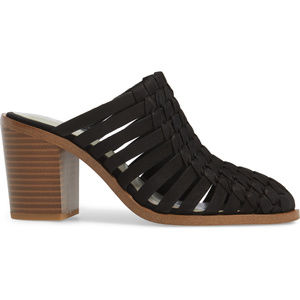 1.STATE Leather Woven Mule, Black SALE FIRM $